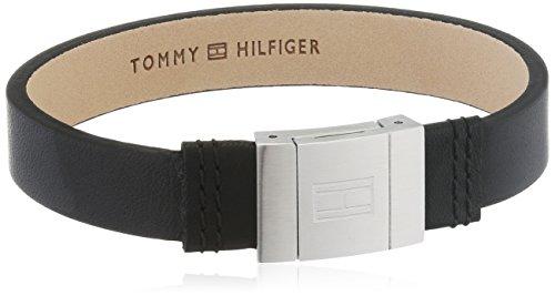 Tommy Hilfiger Herren-Armband Edelstahl Leder 21.5 cm - 2700950