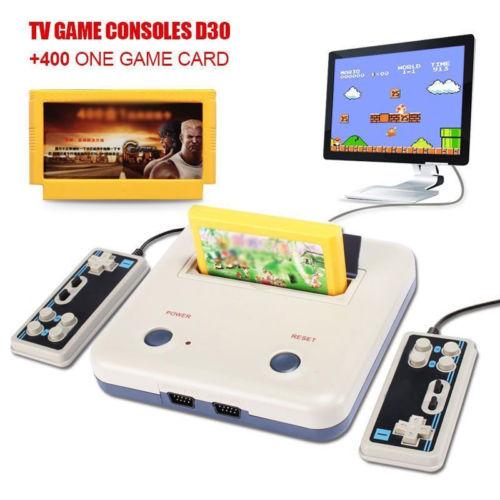 Konsole Videospiele+400 Spiele+zwei Handle Controller TV Spiel Thrones Geschenk
