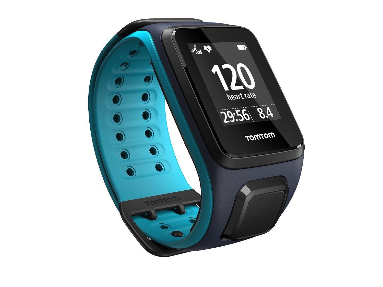 TomTom Runner 2 Cardio + Music L GPS-Uhr Laufuhr Sportuhr Blau/Türkis *NEU&OVP*