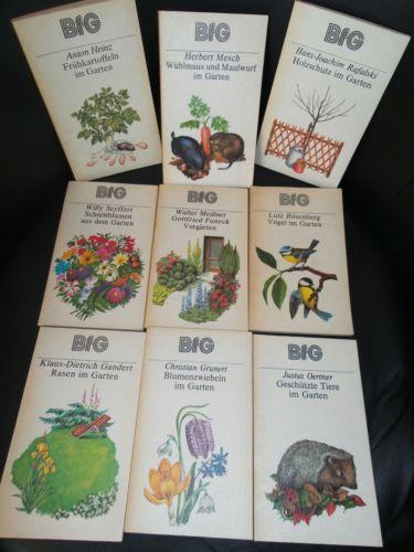 Bücherkiste / Sammlung BFG Bücher für Gartenfreunde DDR Ostalgie Garten *Liste