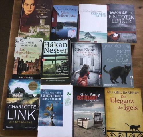 12 Bücher: Paket Konvolut Krimi Thriller Roman Kriminalroman Nele Neuhaus Klönne