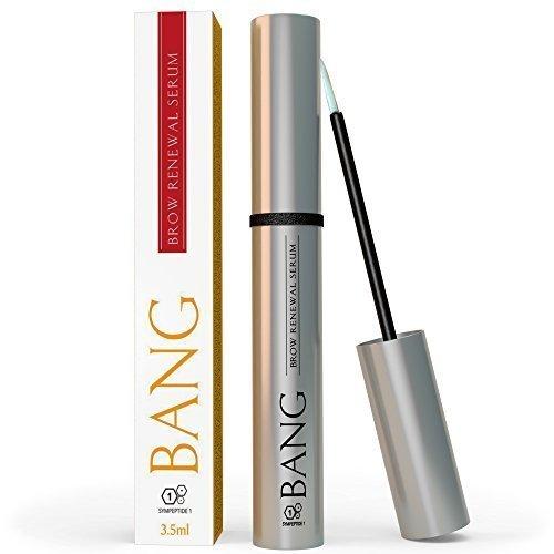 BANG Augenbrauen Serum - Für dickere, kräftigere Augenbrauen mit Arganöl, Rizinusöl & kraftvollen Peptiden - 2 Monats Vorrat