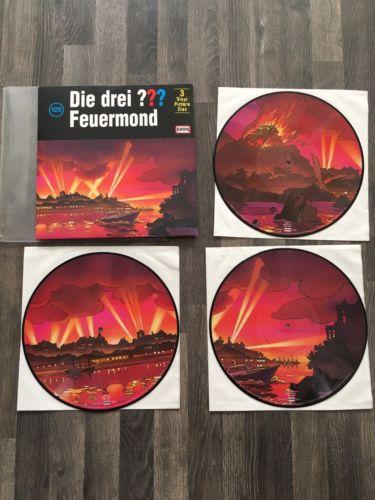 Die Drei Fragezeichen Folge 125 Feuermond Selten 3 Vinyl Picture Disc