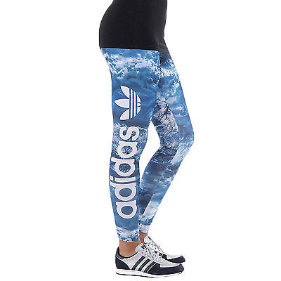 adidas Originals Womens Night Print Gym Bottoms Leggings - Multi  (B Grade)