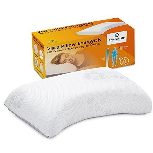Gesundheitskissen EnergyON | Nackenstützkissen mit Celliant-Tech-Bezug für mehr Regeneration & besseren Schlaf | Visco Kopfkissen | Höhenverstellbar / Atmungsaktiv / Orthopädisch / Klinisch getestet