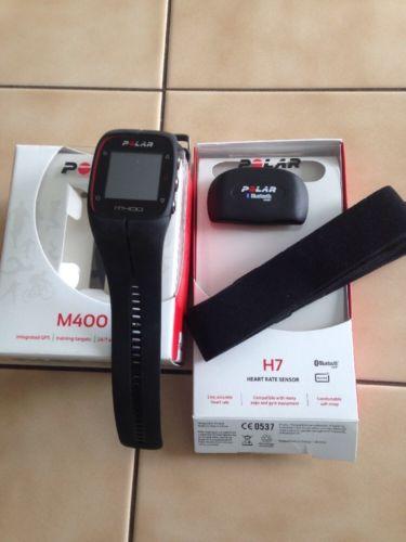 Polar Pulsuhr GPS-Laufuhr M400  mit Herzfrequenz-Sensor H7