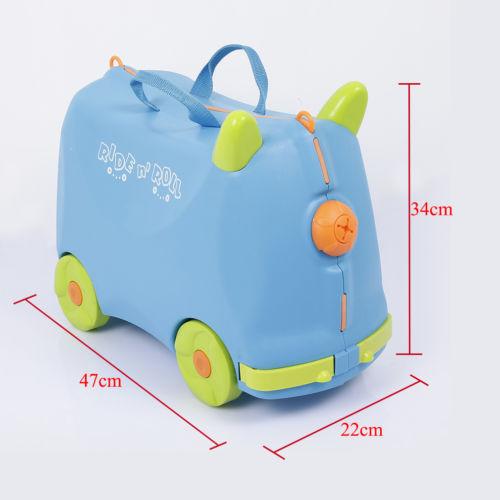 Kinder Hartschalen Koffer Ziehkoffer Kinderkoffer Reisekoffer Trolley Blau
