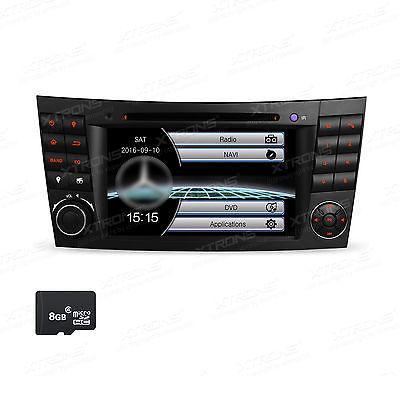 AUTORADIO FÜR MERCEDES-BENZ W211 W219 MIT NAVI GPS NAVIGATION BLUETOOTH DVD 2DIN