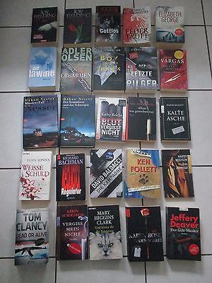 25 Bücher Bücherpaket Krimis Kriminalromane Thriller