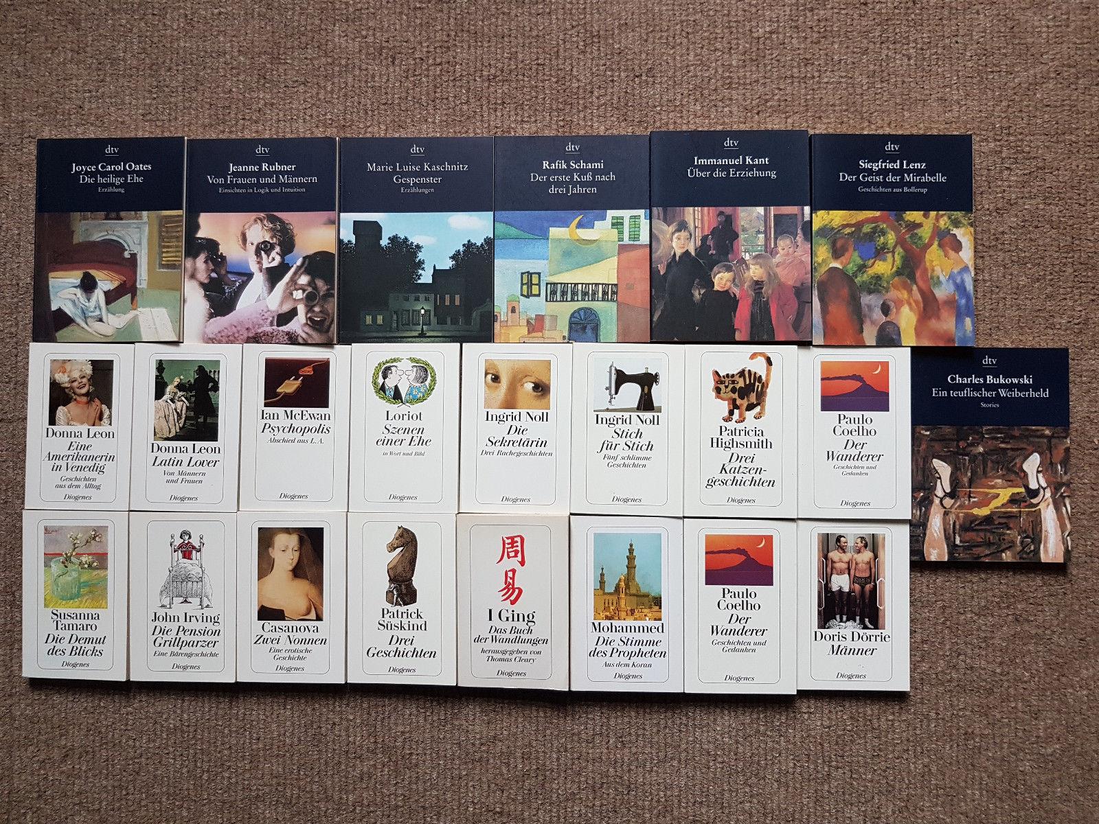 Konvolut 23 Minibücher von dtv und diogenes Sammlung