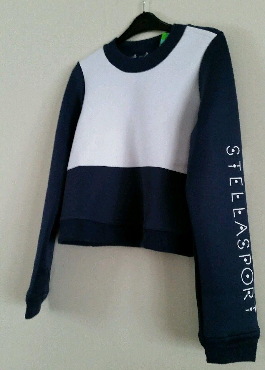 Adidas Stella McCartney Spacer Sweater / Sports Top Grey/White BNWT (RRP £49.99)