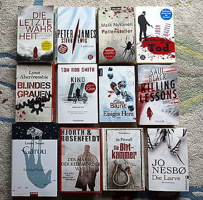 Bücherpaket 12 top Krimis Thriller: Nesbo Hjorth&Rosenfeldt Smith James Bazell