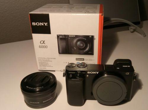 Sony Alpha A6000 24.3 MP SLR-Digitalkamera mit E PZ 16-50mm Kit Objektiv