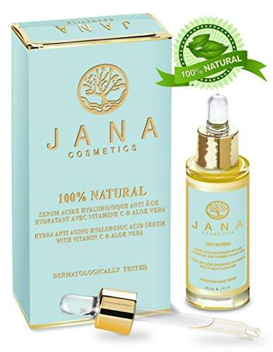 Hyaluronsäure Serum- Hyaluron Anti-Aging Serum – mit Vitamin C & Aloe Vera - Jana Cosmetics -100% Naturkosmetik - Made in Europe