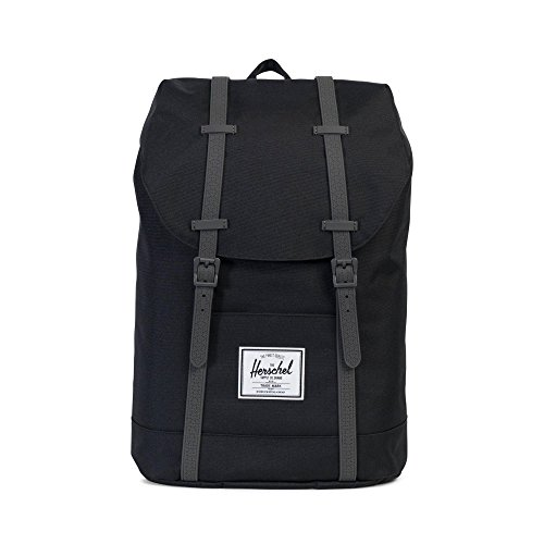 Herschel Retreat Backpack Rucksack 43 cm, black/charcoal debossed rubber