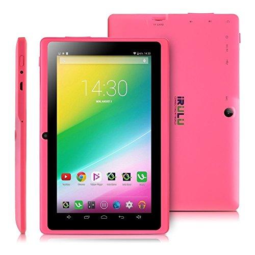 iRULU eXpro X1 7 Zoll Google Android Tablet PC, 1024x600 Auflösung, 8GB Nand Flash, Wi-Fi, Spiele, Dual-Kameras - Pink