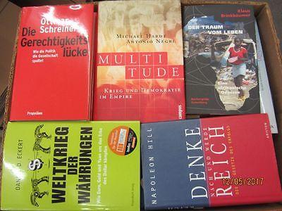 44 Bücher Sachbücher Wissenschaft Wirtschaft Politik Zeitgeschichte Paket 2