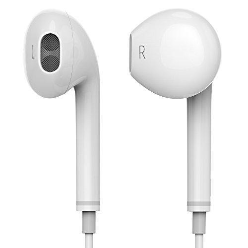 shenzoo® Kopfhörer in Ear mit Lautstärkenregler Headset für iOS und Android in weiss