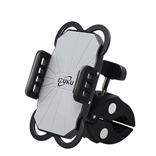 Handyhalterung Fahrrad Kratzschutz 360°Drehbarem Gelenk [Lebenslange Garantie] IZUKU Universal Handyhalter Fahrrad rutschfrei bombenfest Kompatibel für alle Smartphones mit einer Breite von 5,0cm bis 9,2cm