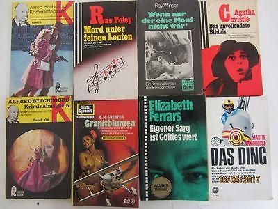 129 Bücher Romane ältere Krimi Thriller Detektivromane Spionageromane