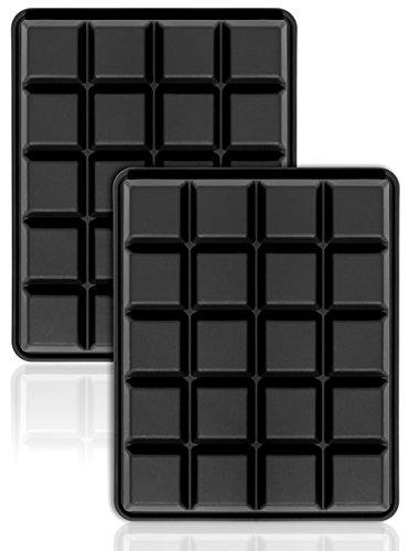 40er Pack Eiswürfelformen 2,5 cm Eiswürfel Silikonformen, Whiskyquadrate, Eiswürfelbereiter, 20 pro Schale, 2er Set.