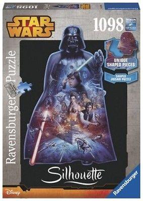 Ravensburger 16158 - Star Wars, Darth Vader, 1098 Silhouette Puzzle (Spielware)