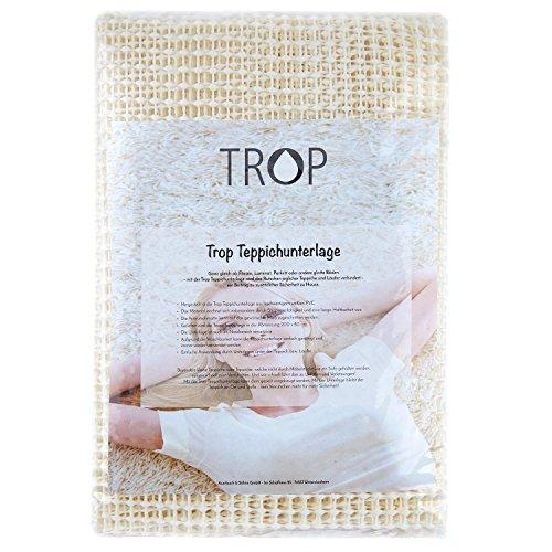 TROP Rutschfeste Teppichunterlage 200 x 80 cm - Antirutschmatte / Rutschschutz / Teppich Stopper / Teppichunterleger - mit 3 Jahren Geld-zurück-Garantie