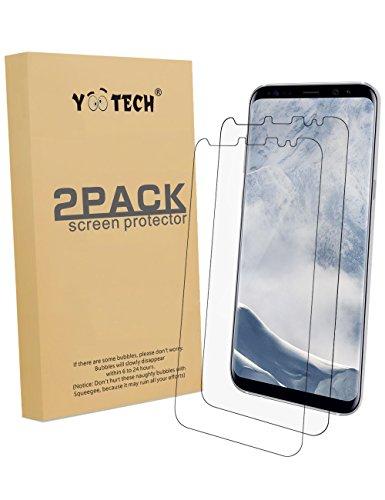 Galaxy S8 Schutzfolie [2 Stück][NICHT Panzerglas], Yootech Galaxy S8 Displayschutzfolie Wet Applied Anti-Luftblasen für Samsung Galaxy S8 HD[lebenslange Garantie](2017)