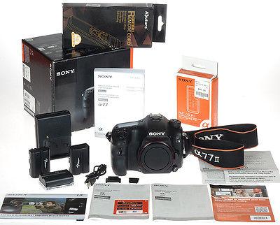 Sony ALPHA A77II A77 II 24MP Digital SLR Body w/Remote + Timer - Less than 20K