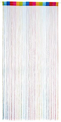 1001 Wohntraum F12 Fadenstore, 100 x 200 cm, Fadengardine, Fadenvorhang, Raumteiler, Gardinen, bunt