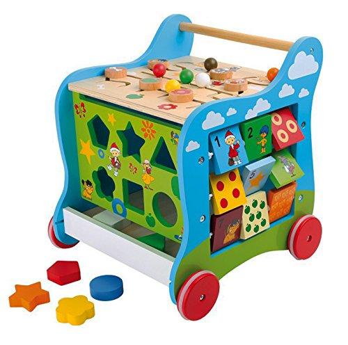 Small Foot Company 5848  Lauflernwagen aus Holz mit Unser Sandmännchen-Motiv, vielseitiger Spielspaß für Kinder ab 2, zur Förderung der motorischen Fähigkeiten  design