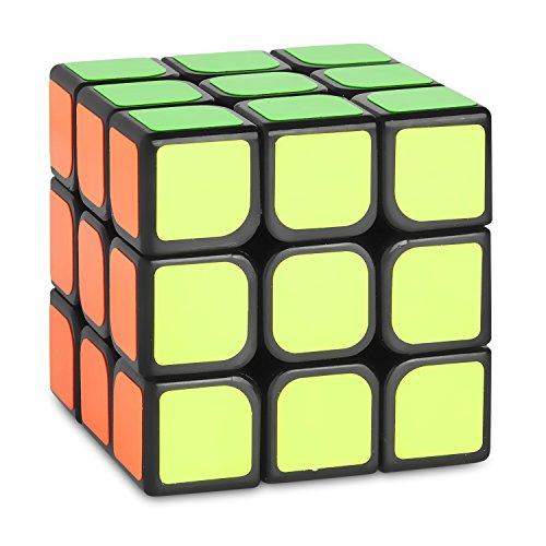 Zauberwürfel - 3x3 Speedcube SYDNEY - schwarz - Schneller und robuster Profi Speed-Cube 3x3 mit optimierten Dreheigenschaften für Speed-Cubing (3x3x3 Cubikon-Moyu Sulong)