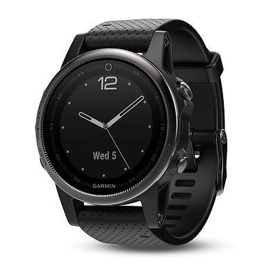 Garmin fenix 5S - Saphirglas-Edition - Schwarz mit schwarzem Armband - neuwertig