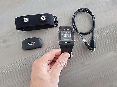 Polar M400 Sportuhr, Fitness, GPS, Herzfrequenz Brustgurt H7, schwarz, +Beigabe
