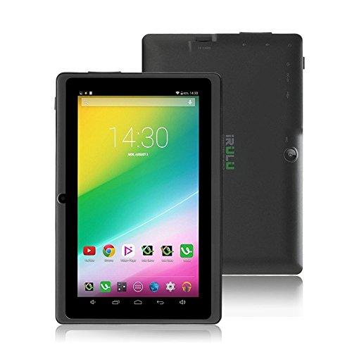 iRULU eXpro X1 7 Zoll Google Android Tablet PC, 1024x600 Auflösung, 8GB Nand Flash, Wi-Fi, Spiele, Dual-Kameras - Schwarz