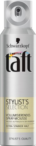 Drei Wetter Taft Stylist's Selection Volumisierendes Spray-Mousse, extra starker Halt, 6er Pack (6 x 150 ml)