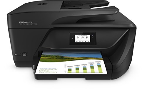 HP Officejet 6950 Multifunktionsdrucker (Drucker, Scanner, Kopierer, Faxen, HP Instant Ink, Duplex, WLAN, HP ePrint, Apple Airprint, USB, 600 x 1.200 dpi) schwarz