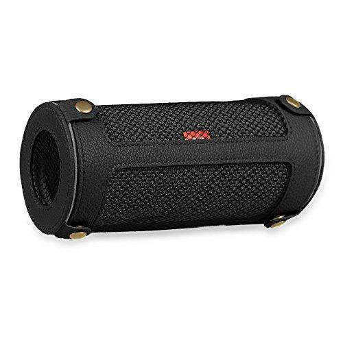 Fintie JBL Flip 3 Tragbare Lautsprecher Hülle Abdeckung - Hochwertiges Kunstleder Schutzhülle Tasche Case mit Karabinerhaken für JBL Flip3 Tragbare Lautsprecher, Schwarz