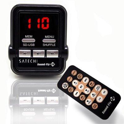 Satechi Soundfly SD WMA/MP3-Player Auto-FM-Transmitter für SD-Karte, USB-Stick, MP3-Player (iPod, Zune)