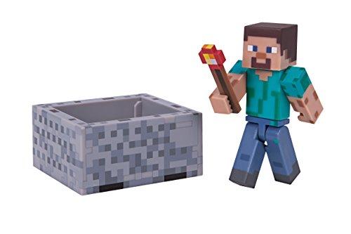 Minecraft 16480 - Steve mit Minecart mit Accessoire, Actionfiguren