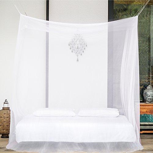 PREMIUM MÜCKENNETZ für Doppelbetten von EVEN Naturals, ZWEI Öffnungen, Hänge-Set, Tragetasche & eBook, Rechteckiger Netzvorhang, Insektenschutz, 100% Zufriedenheitsgarantie