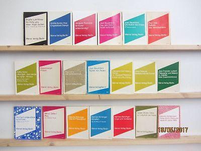 20 Bücher Taschenbücher Merve Verlag Berlin