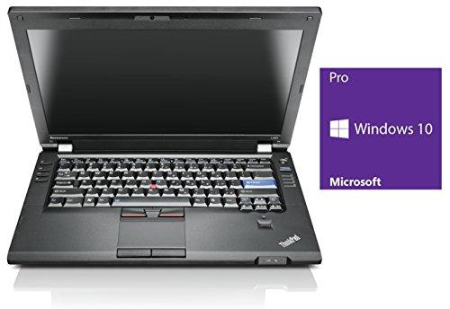 Lenovo ThinkPad L420 Notebook | 14 Zoll Display | Intel Core i5-2520M @ 2,5 GHz | 4GB DDR3 RAM | 320GB HDD | DVD-Brenner | Windows 10 Pro vorinstalliert (Zertifiziert und Generalüberholt)