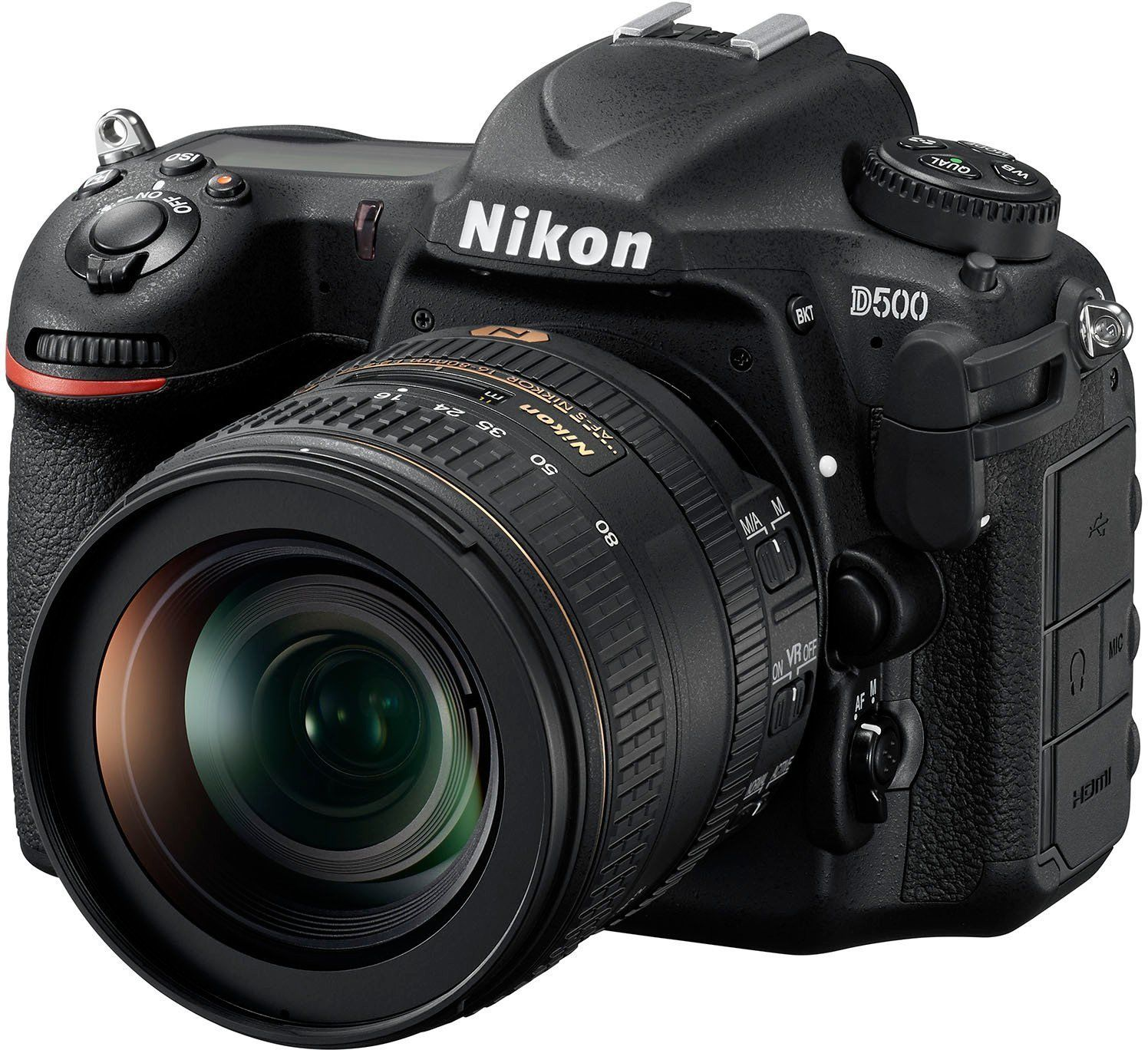 Nikon D500 + Nikkor AF-S DX 16-80mm 1:2;8-4 E VR ED 4K-UHD-Video 20.9 Megapixel