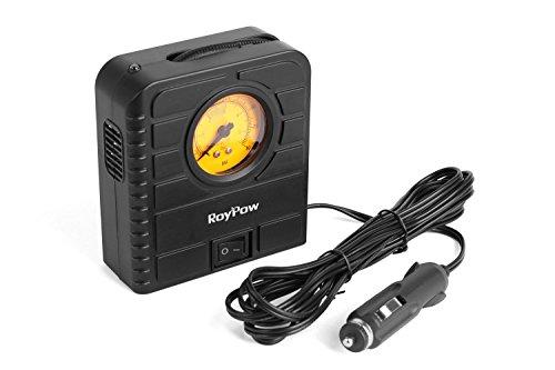 Roypow I80 12V elektronischer PKW-Luftkompressor & tragbarer Reifenfüller & Pumpe für Motorrad, Fahrrad, Bälle und Schwimmring Befüllung
