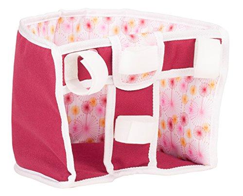 Götz 3402862 Happy Flowers Fahrradsitz - Puppenzubehör für alle Puppengrößen von 27 cm bis 50 cm - kinderleicht durch Klettverschluss am Fahrrad anbringbar - geeignet für Kinder ab 3 Jahren