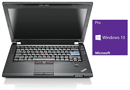 Lenovo ThinkPad L420 Notebook | 14 Zoll Display | Intel Core i5-2520M @ 2,5 GHz | 4GB DDR3 RAM | 240GB SSD | DVD-Brenner | Windows 10 Pro vorinstalliert (Zertifiziert und Generalüberholt)