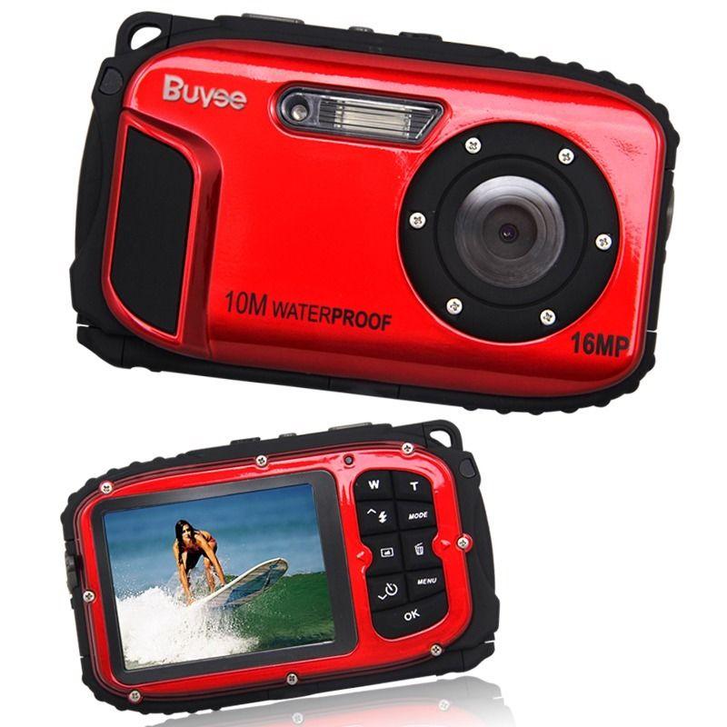 16MP DIGITALE UNTERWASSER KAMERA OUTDOOR FOTO CAMERA Camcorder 8fach Zoom Rot