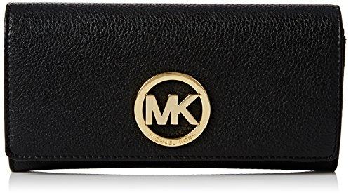 Michael Kors Damen Fulton Carryall Wallet Geldbörse, Schwarz (Black), 3x12x20 cm