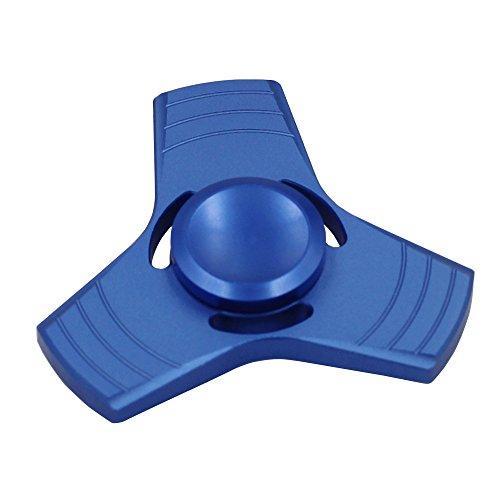 Fidget Spinner Spielzeug Tri-Spinner Metal, bis zu 5 Minuten, GIM Finger Tip Gyro Hand Spinner Fidget Spielzeug, EDC Focus Spielzeug für Kinder & Erwachsene (blau)